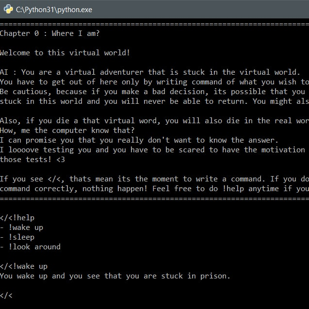 Text Adventure game
